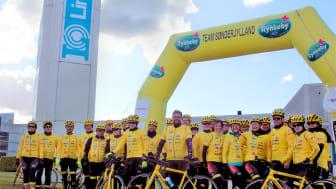 Thomas Axelsen fra Lindab er med på Team Rynkeby Sønderjylland, som i slutningen af juni begynder den over 1.200 km lange tur til Paris for børn med kritiske sygdomme og de-res familier.