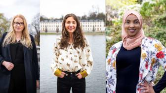 Kompassrosstipendiater 2021: Emina Sesto, Eleonora Svanberg och Muna Idow