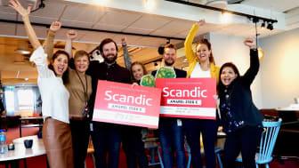 Glade vinnere av Scandics bærekraft hackathon