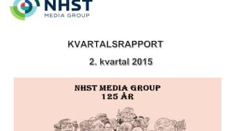 NHST Media Group – Kvartalsrapport 2. kvartal 2015