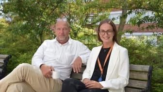 Torsten Helander och Matilda Suneson är båda planarkitekter i Eslövs kommun.