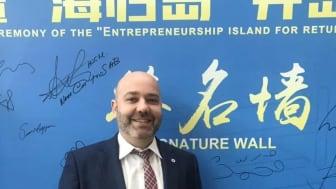 Vironova CEO Mohammed Homman at the third China Innovation & Entrepreneurship International Competition in Shenzhen April 2019
