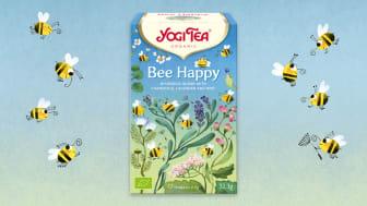 Nyheten Bee Happy fra Yogi Tea ønsker å øke fokuset på å beskytte ville bier.
