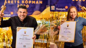 Fr. v. Sheragim Arjoman, Årets köpman 7-Eleven, och Amanda Blok, Årets köpman Pressbyrån