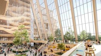 Construction City klyngen diskuterer hva som må til for å møte fremtidens krav til næringsbygg. LINK Arkitektur / Axion Visuals