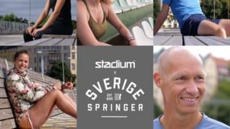Stadium och Sverige Springer inspirerar till hemmaträning