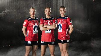 Heidi Løke, Stine Bredal Oftedal, Veronica Kristiansen. FOTO: TV3/Rune Bendiksen