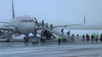SAS flight SK2271 från Köpenhamn har landat på Scandinavian Mountains Airport