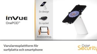 InVue OnePOD - varularmsplattform för smartphone och surfplatta