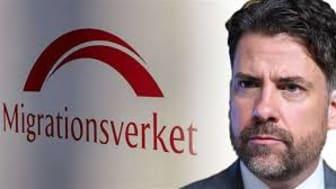 """Mikael Ribbenvik, generaldirektör för Migrationsverket. """"Är det någon som tror att det inte gått ut hårda och tydliga direktiv från Migrationsverkets ledning i denna fråga?"""""""