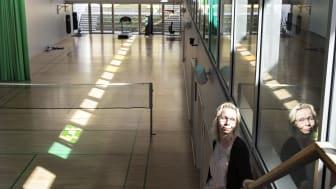 Anne-Grethe Borch Lauridsen i idrætshallen