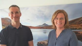 Johan Bålhammar, VD och Anneli Lindström, ny avdelningschef
