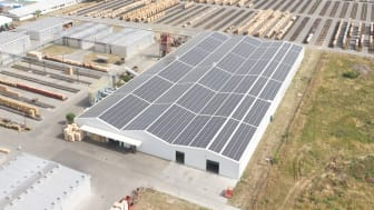 One of Bjelins factories that is powered by solar panels.