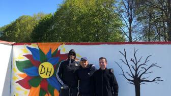Konstplank, från vänster Timothy Avery, Vehid Huseinbasic och Sajid Kahrimanovic