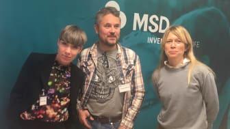 Från vänster: Darja Isaksson, Johan Sellström och Sofia Svantesson. Foto:MSD.