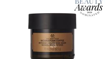 Nicaraguan Coffee Intense Awakening Mask kan vinna Bästa herrprodukt i Swedish Beauty Awards 2020.
