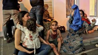 Många barn i fara efter explosionen i Beirut