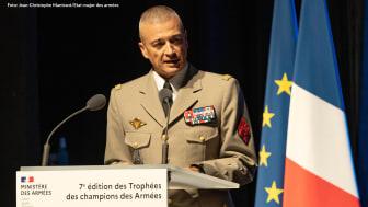Frankrikes försvarschef general Thierry Burkhard. Foto: Jean-Christophe Mantrant/Etat-major des armées.