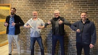 Björn Andersson, Peter Gustafsson, Morgan Dragstedt och Robin Gustafsson.