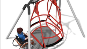 Rullstolsgunga i stål