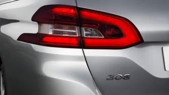 Nya Peugeot 308 SportWagon bakljus