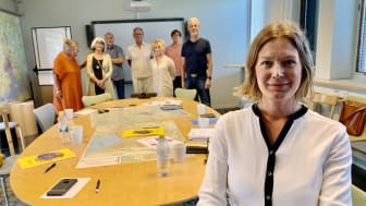 Stina Wessman, ordförande Svensk Form Västmanland, och den nya styrelsen