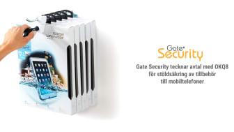 Gate Security tecknar avtal med OKQ8 för stöldsäkring av tillbehör till mobiltelefoner