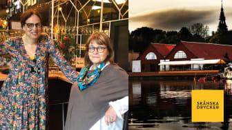 Nadja Karlsson och Carina Olofsson Gavelin håller i provningen av skånska viner.
