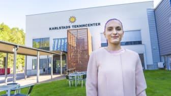 Samina har påbörjat sin drömutbildning på Karlstads Teknikcenter.