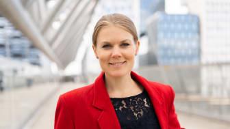 Sunniva Bratt Slette skal forvalte fondet Fremtidens Byer. Foto: Karoline Næss, Storebrand.