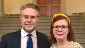 Tobias Nässén, (M) vård- och valfrihetsregionråd & Anna Starbrink, (L) hälso- och sjukvårdsregionråd