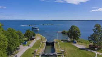 Bergs slussar, Göta kanal är ett av Linköpings största besöksmål. Med Kickstart Linköping vill Linköpings kommun skapa fler nya produkter och reseanledningar till Linköping.  Foto: Fredrik Schlyter