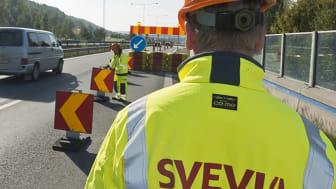 Under sommaren startar bygget av en ny trafiklösning i Täby. Foto: Fredrik Schlyter