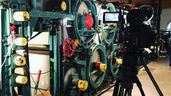 Frövifors pappersbruksmuseum har fått bidrag för att filma intervjuer med före detta anställda vid pappersbruket. Foto: Mikael Tiderman