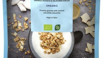 Urtekram granola, kokos & hvid chokolade