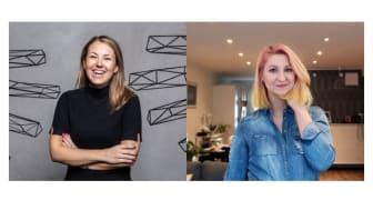 Mimmi Holm och Agata Nowakowska är Blockets adepter i Womentor-programmet
