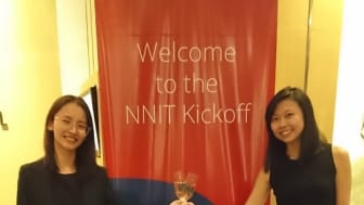 Carissa Choh (on the right) and Tina Lan, who is a  colleague in NNIT as well as ISPE.