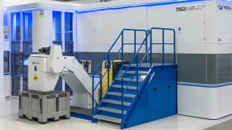 Modig Machine Tools senaste maskin RigiMill MT som är utrustad med spåntransportör och skärvätskerening från Mercatus och KNOLL.
