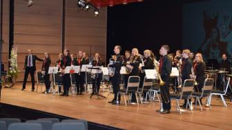Haukås Musikklag i NM brass 2016. I år spelar dei også i 2. divisjon og skal på scena fredag. Foto: John Vint/NMF.