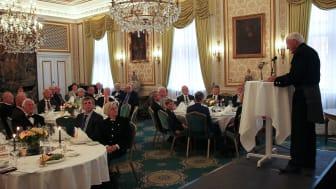 Olav Markussen taler under utdelingen av St. Olavs orden. Foto: Norsk Bergindustri