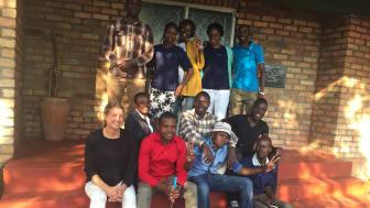 Hand in Hands projektteam i Zimbabwe