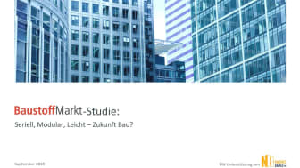 """BaustoffMarkt-Studie """"Seriell, modular, leicht: Zukunft Bau?"""""""