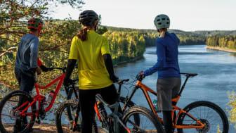 En modell för klimatanpassningsanalys av cykelleder har tagits fram inom Visit Umeås hållbara cykelprojekt. Foto Philip Avesand/Visit Umeå
