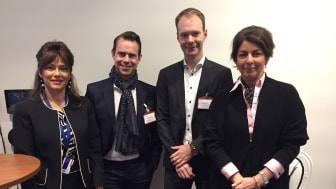 Med på bild; Azita Shariati, Torbjörn Eriksson, Victor Mannerholm Hammar och Bettina Kashefi