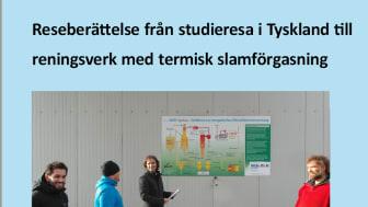 SVU-rapport om reseberättelse från studieresa i Tyskland till reningsverk med termisk slamförgasning