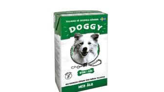Svenskt, klimatsmart och naturliga råvaror – så stavas receptet när Doggy lanserar sitt nya våtfoder lagat på älgkött.