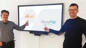 Daniel Höglund Werngren, Produkt och affärsutvecklare på Moreflo och Björn Elfgren, vd på Abicart.