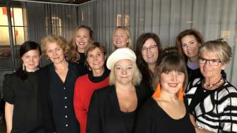 Stellagalans arbetsgrupp med vänner: Elvira Lindqvist, Anna Lind Lewin, Ida Ström, Anita Lindström, Anna Gidgård (jurygruppsordförande media) Maja Berthas, Anette Rosvall, AnnaAntonia Svedberg, Elinor Falkman (moderator) Ella Nilsson