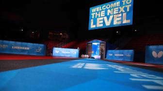 Halmstad Arena under lag-VM 2018. Foto: ITTF