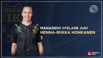 Fem mål i samma match fick juryn på fall – UIK:s Henna-Riikka Honkanen Månadens Spelare i Elitettan